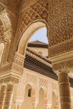 Famous Lion Fountain, Alhambra Castle (Granada, Spain) Stock Photography