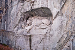 Famous lion monument in lucerne Royalty Free Stock Photos