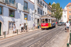 Famous Lisbon tram number 28 Stock Photography