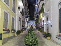 A famous little lane near Senado Square Stock Photo