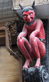 The famous Little Red Devil statue located in Stonegate, York. Royalty Free Stock Photos