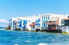 Famous Little Venice. Mykonos, Greece Stock Photography