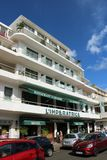 L`Imperatrice hotel in Fort de France, Martinique. Famous, located in front of the Savane park, boutique hotel L`Imperatrice. With its Creole charms, it is one Royalty Free Stock Photos