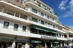 L`Imperatrice hotel in Fort de France, Martinique. Famous, located in front of the Savane park, boutique hotel L`Imperatrice. With its Creole charms, it is one Royalty Free Stock Images