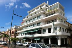 L`Imperatrice hotel in Fort de France, Martinique. Famous, located in front of the Savane park, boutique hotel L`Imperatrice. With its Creole charms, it is one Royalty Free Stock Photography