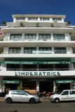 L`Imperatrice hotel in Fort de France, Martinique. Famous, located in front of the Savane park, boutique hotel L`Imperatrice. With its Creole charms, it is one Royalty Free Stock Photo