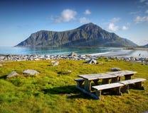 Famous Lofoten, Norway Landscape, Nordland Royalty Free Stock Photos