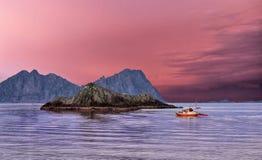 Famous Lofoten, Norway Landscape, Nordland Stock Image