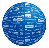 Famous logo collection in globe. Famous logo collection globe in vector eps Royalty Free Stock Image