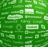 Famous logo collection in globe. Famous logo collection globe in vector eps Stock Images