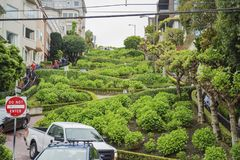 The famous Lombard Street of San Francisco Royalty Free Stock Image