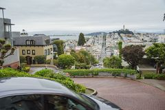 The famous Lombard Street of San Francisco Royalty Free Stock Photography