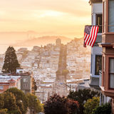 Famous Lombard Street in San Francisco Royalty Free Stock Photos