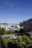 The famous Lombard Street in San Francisco Stock Photos