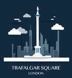 Famous London Landmark Trafalgar Square Illustration. Famous London Landmark Trafalgar Square Illustration Stock Photo