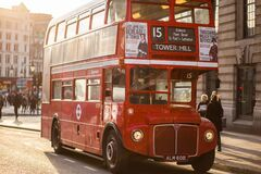 Famous London red bus  Royalty Free Stock Images