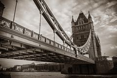 Famous London Tower Bridge Royalty Free Stock Photography