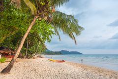 Famous Lonely Beach at the Koh Chang islands, Thailand. Famous Lonely Beach at the Koh Chang island, Thailand Royalty Free Stock Photos