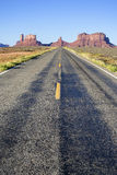 Famous long Road to the Monument Valley Royalty Free Stock Images