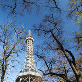 Famous Lookout tower on Petrin Hill in Prague Stock Photography