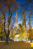 Famous Lookout tower on Petrin Hill in Prague Stock Image