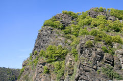 Famous Loreley Rock Stock Photography