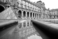 Famous Louvre museum Stock Photography