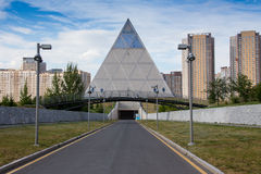 Famous Louvre Museum Pyramid Royalty Free Stock Photos