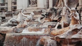 Famous Love Fountain, Fontana di Trevi stock footage