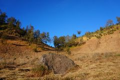 The Famous Love Hills of Mount Semeru. Locals and several climbers say it `The Love Hills`, because its myth about love. It is located in area of Ranu Kumbolo stock photography