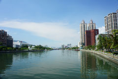 The famous Love River of Kaohsiung Royalty Free Stock Photo