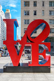 The famous Love sign on 6th avenue in midtown New York. NEW YORK,USA - AUGUST 20,2016: The famous Love sign on 6th avenue in midtown New York City royalty free stock photography