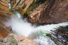 The famous Lower Falls in Yellowstone National Park Stock Photo