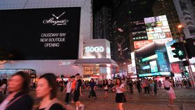 Famous luxury shopping district stock video footage