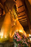 Famous lying buddha in temple Wat Stock Image