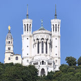 Famous Lyon basilica Stock Photos