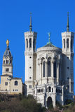 Famous Lyon Basilica Royalty Free Stock Photos