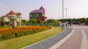 Famous magic garden road 4k time lapse from dubai stock video footage