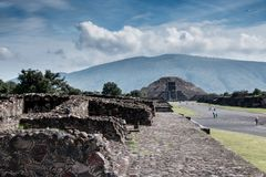 Famous and majestuous Mexican archaeological site Royalty Free Stock Image