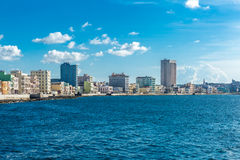 The famous Malecon in Havana, Cuba.  Royalty Free Stock Photo