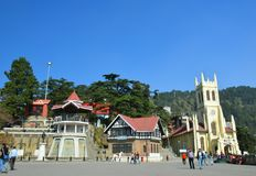 Mall Road Shimla. The famous mall Road of Shimla Stock Photography