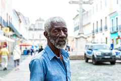 The famous man called Pele sells gifts to tourists at Pelourinho in Salvador, Bahia Royalty Free Stock Image