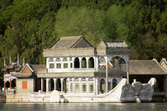 Famous marble boat, Summer Palace, Beijing Royalty Free Stock Photos