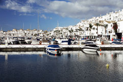 Famous marina of Puerto Banus near Marbella on Costa del Sol Royalty Free Stock Photo