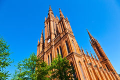 Famous Markt Kirche in Wiesbaden, Stock Images
