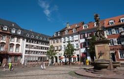 Famous Marktplatz or Market Square in Heildeberg Germany Royalty Free Stock Photos