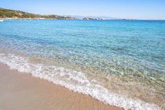 Beautiful beach on Sardegna island, Italy. Famous Marmolata beach on Sardegna island, Italy royalty free stock photography