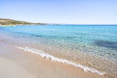 Beautiful beach on Sardegna island, Italy. Famous Marmolata beach on Sardegna island, Italy stock photo