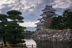 Matsumoto castle, Japan, August 2017. Famous Matsumoto castle, part of the UNESCO World Heritage, Japan, August 2017 Stock Photos