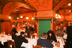 The famous Matyàs Pince restaurant of Budapest on Hungary Royalty Free Stock Photography